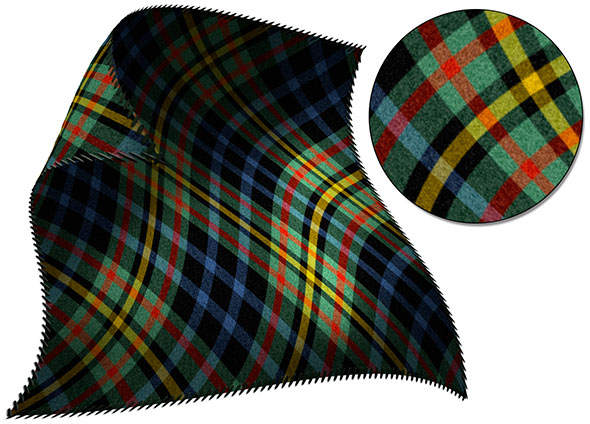 The Photoshop Challenge presents the Clan McClelland tartan