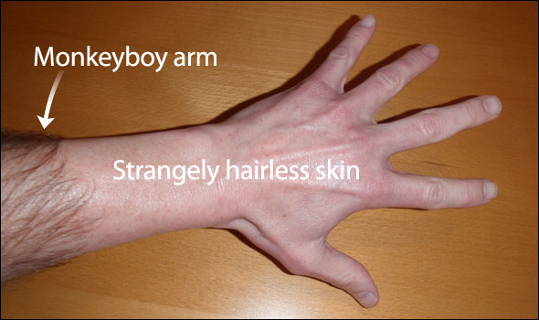 My very own waxed apeboy arm