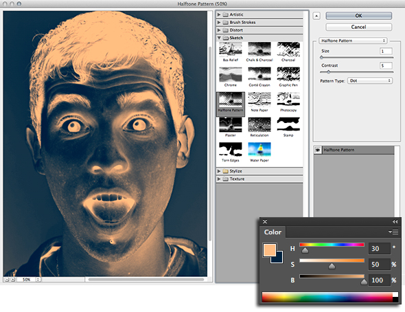 The Strange Powers of Photoshop's Sketch Filters, or How to