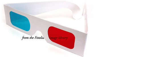 3D glasses from the Fotolia image library