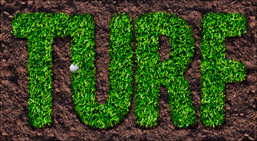 A turf text effect in Photoshop