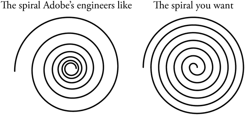 Comparing spirals in Adobe Illustrator