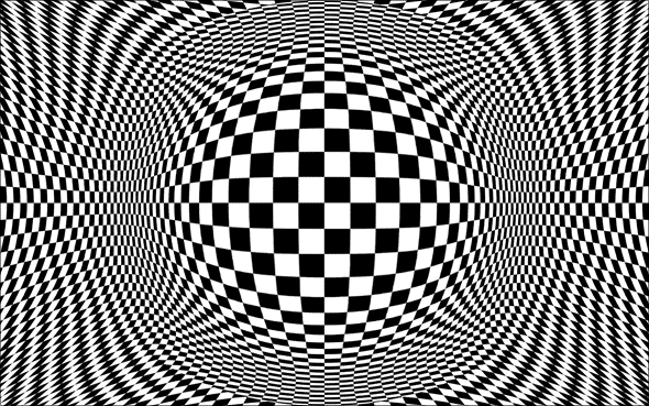 Deke's Techniques 105: Op Art Experiment 1a: Inflated Checkers