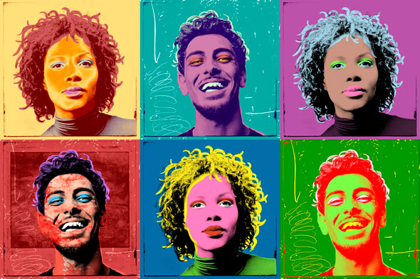 Six variations on an idea inspired by Andy Warhol, that nutty guy