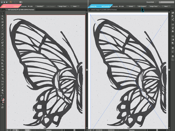 You can embed or link your rasterized art into Illustrator for tracing
