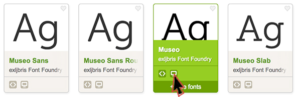 Look for the desktop availability icon for fonts on Typekit