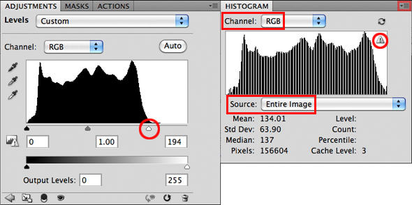 before and after histogram