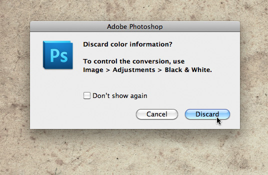discard color info dialog