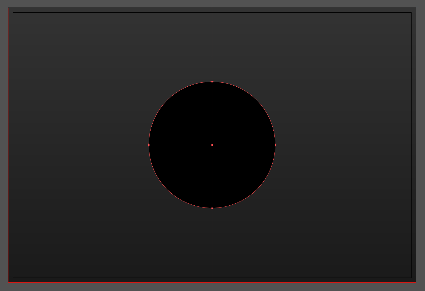 Start with an innocuous black circle