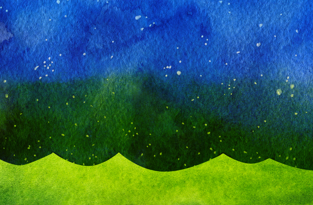 A green and blue background created with Photoshop blend modes