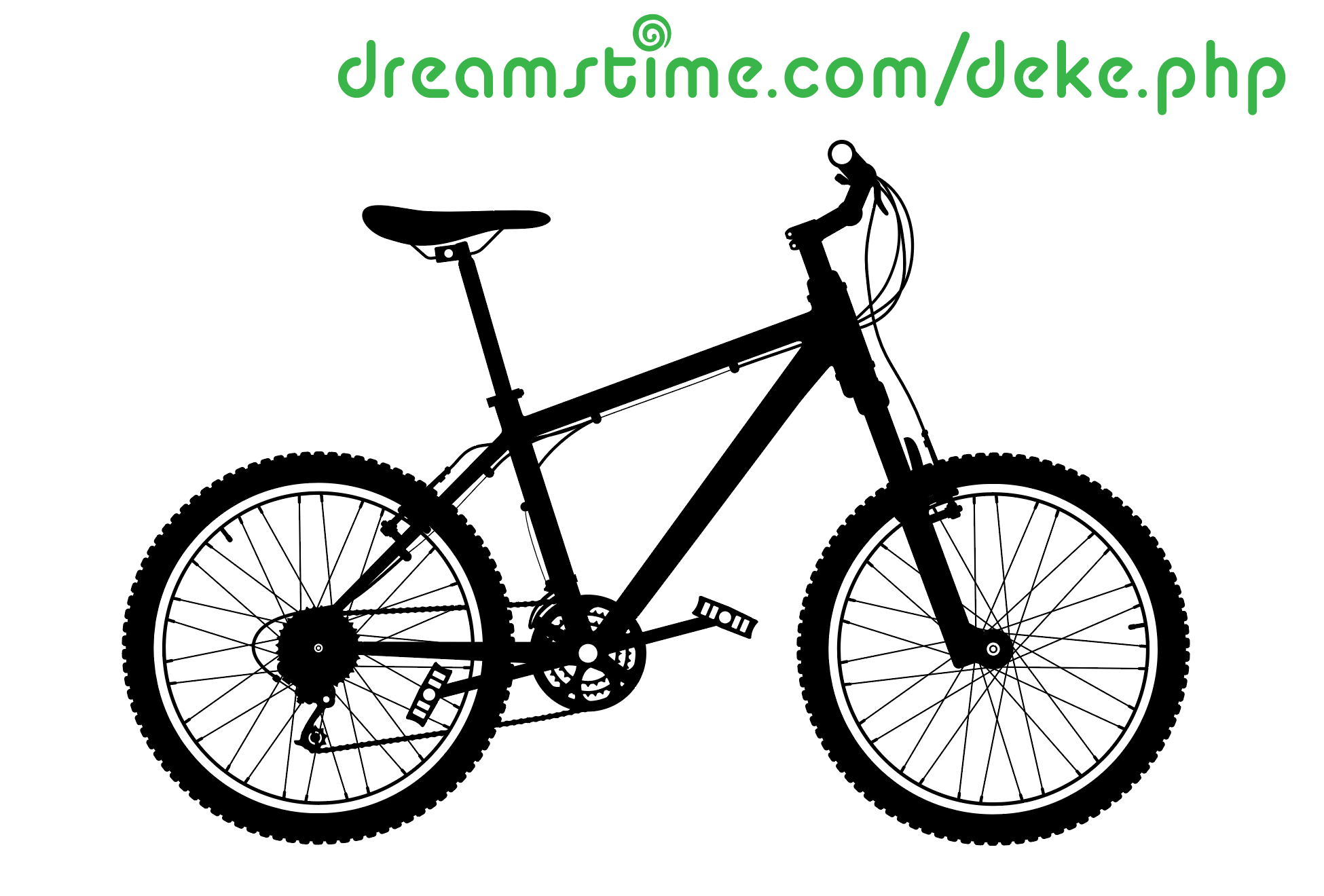 A vector bicycle illustration from Dreamstime.com