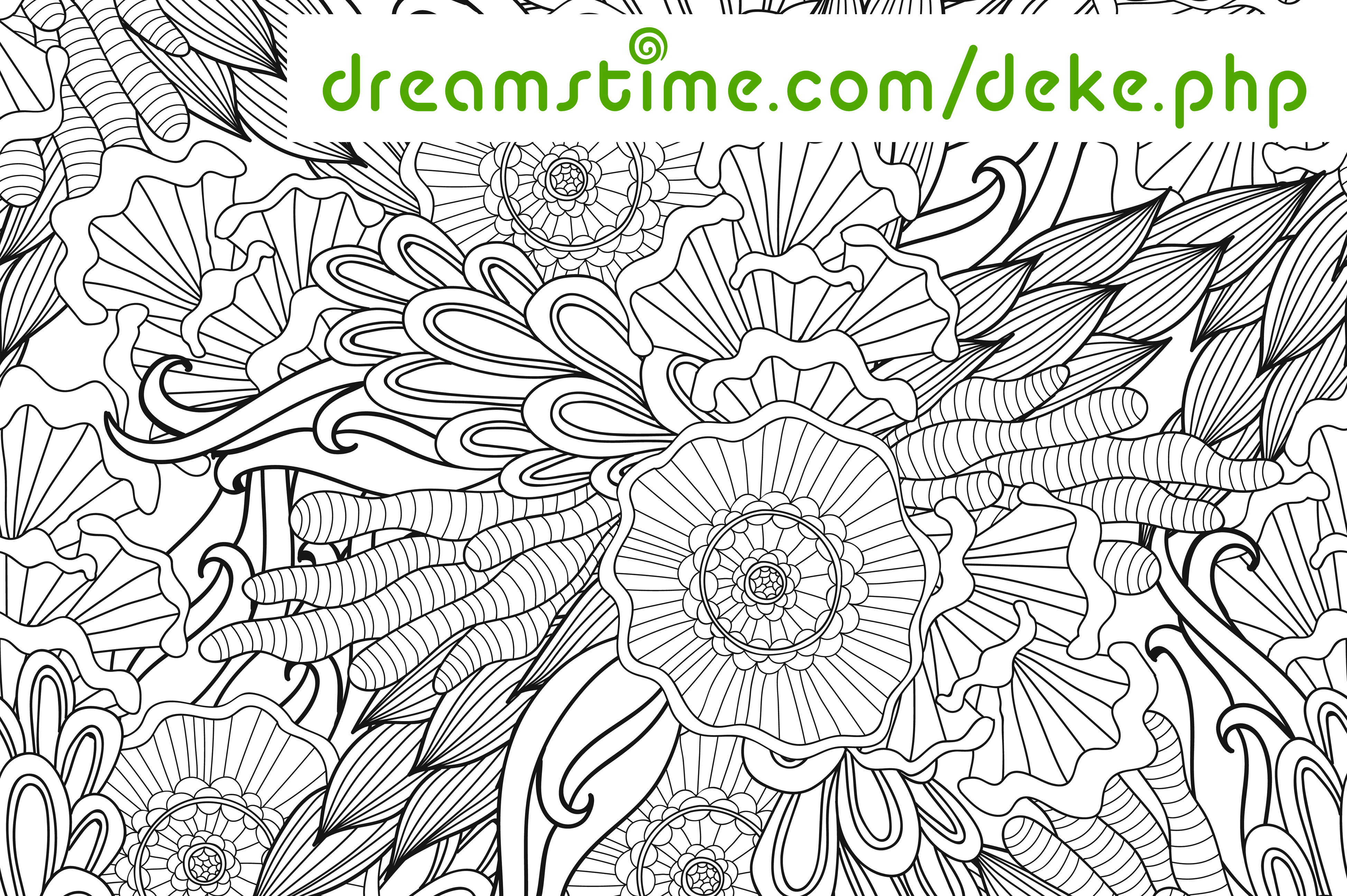 A floral line art piece from Dreamstime.com