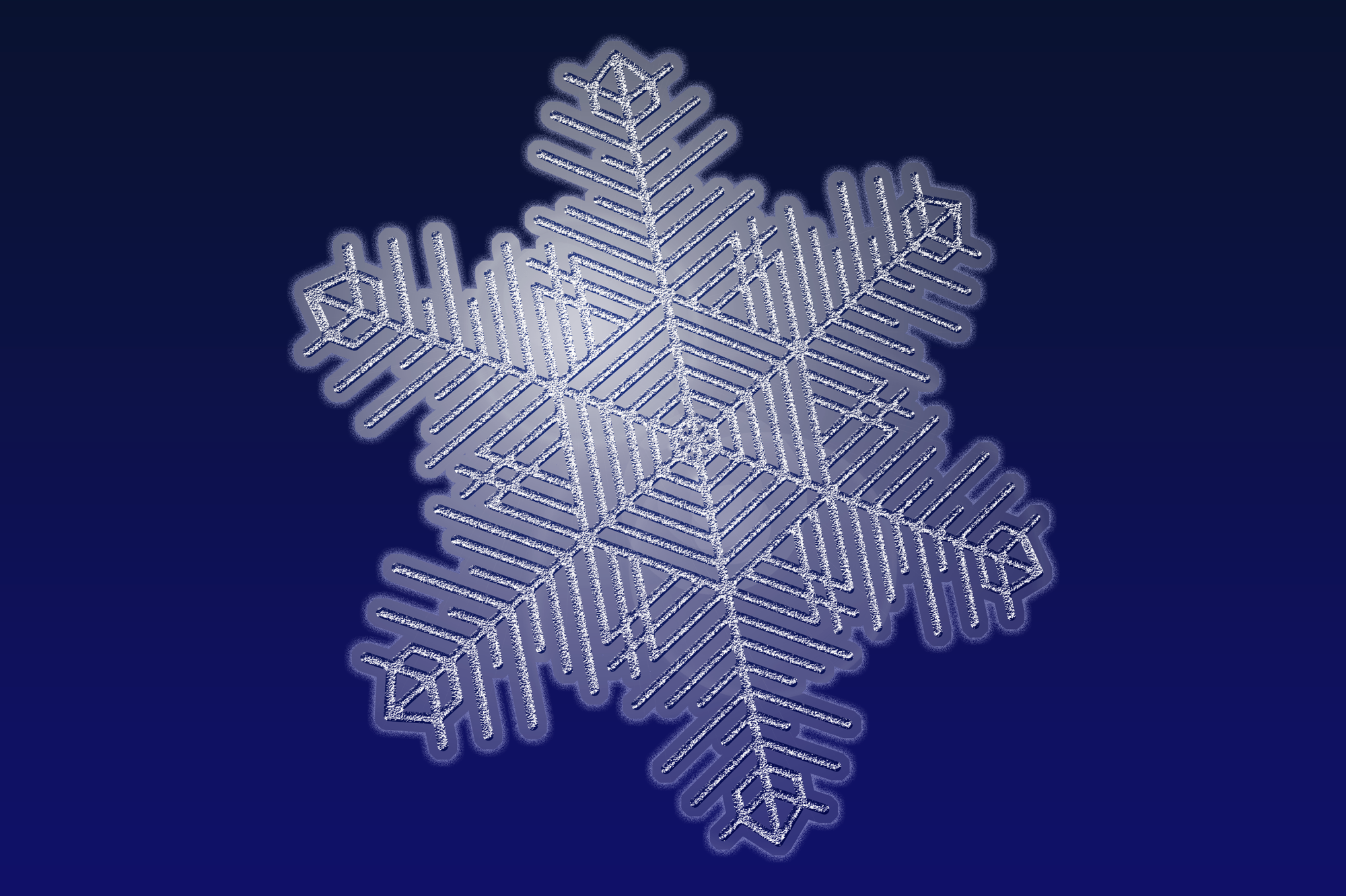 Photoshop snowflake with rasterized effects