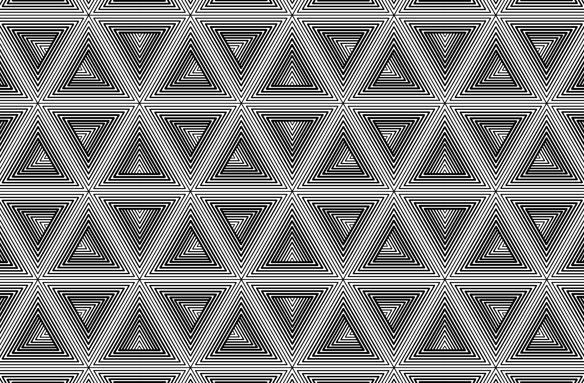 Pattern of hexes of triangles