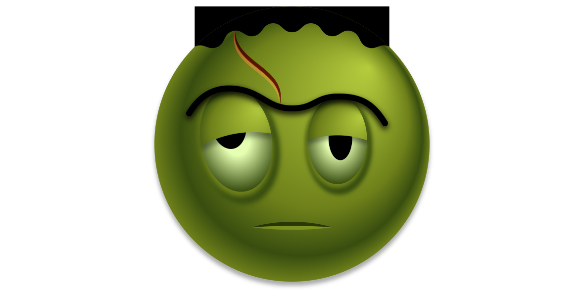 Adding a scar and mouth to the Frankenstein emoji in Illustrator