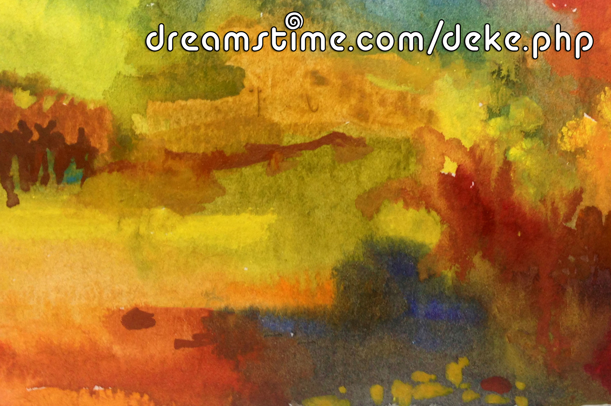 A darker abstract watercolor from Dreamstime