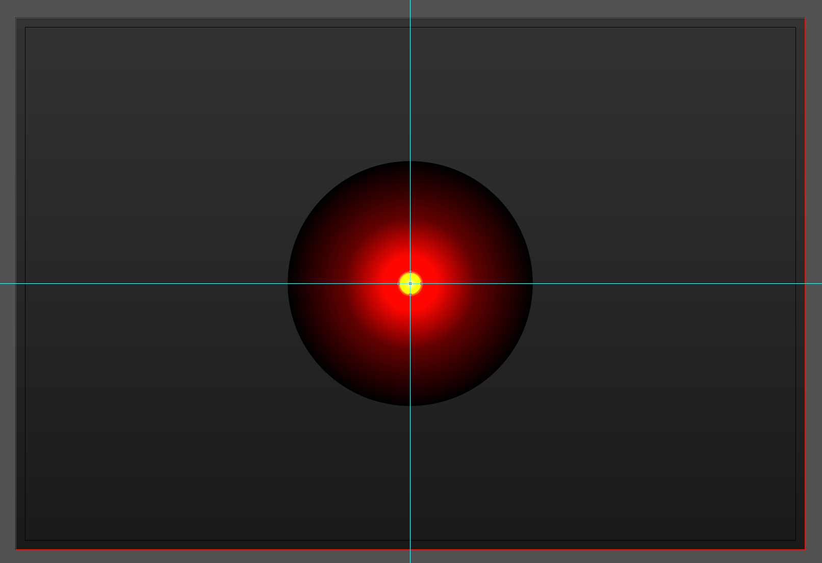 The pupil of HAL 9000 in Adobe Illustrator