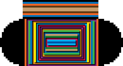 Many rectangles from which the optical illusion pattern is created