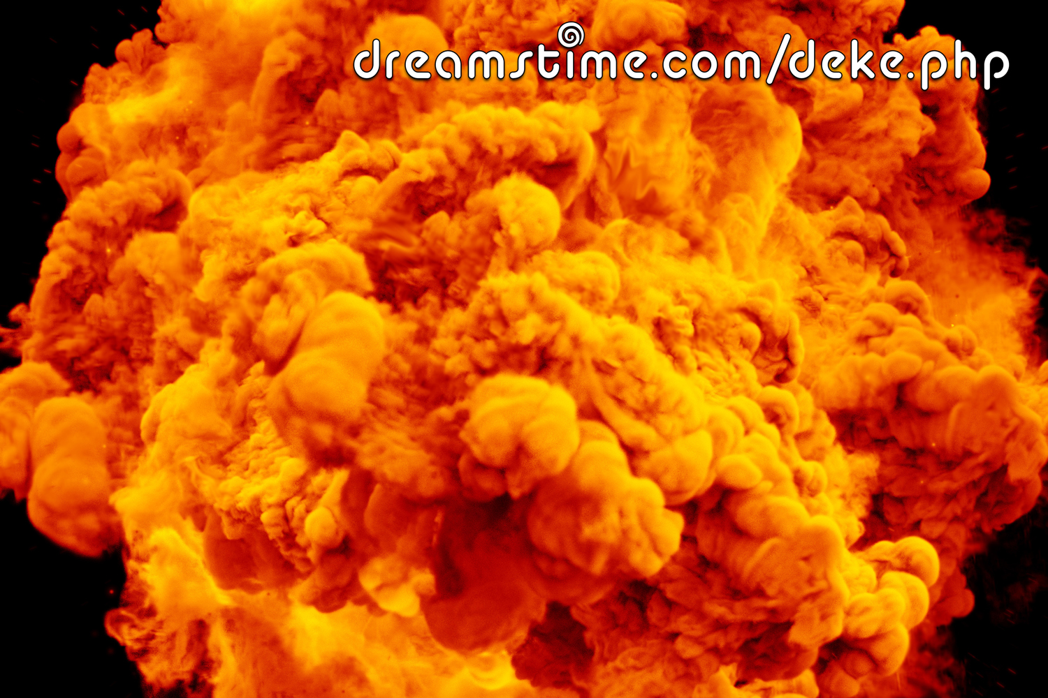 A giant orange explosion from www.dreamstime.com/deke/php