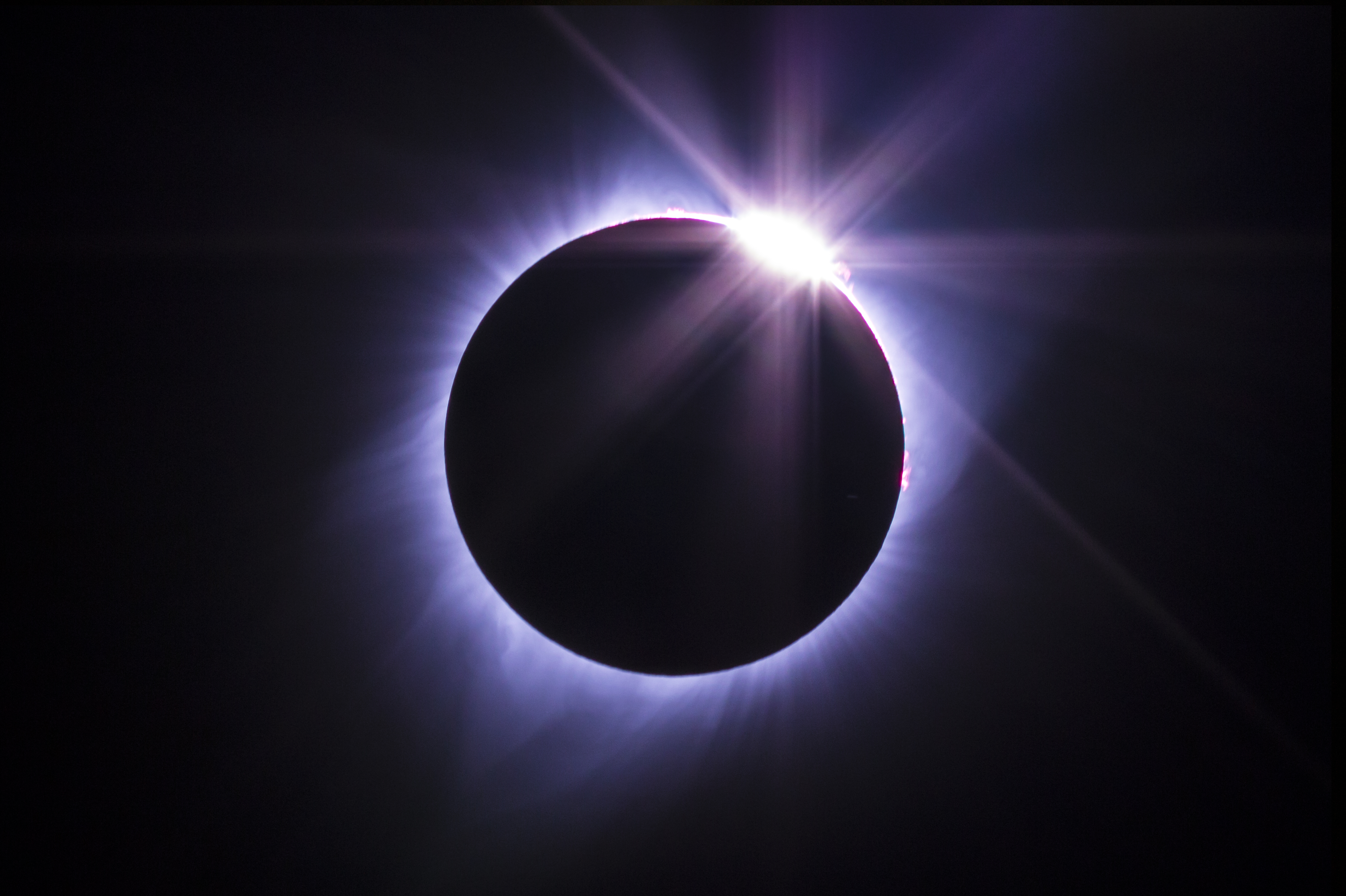 The diamond ring effect during totality