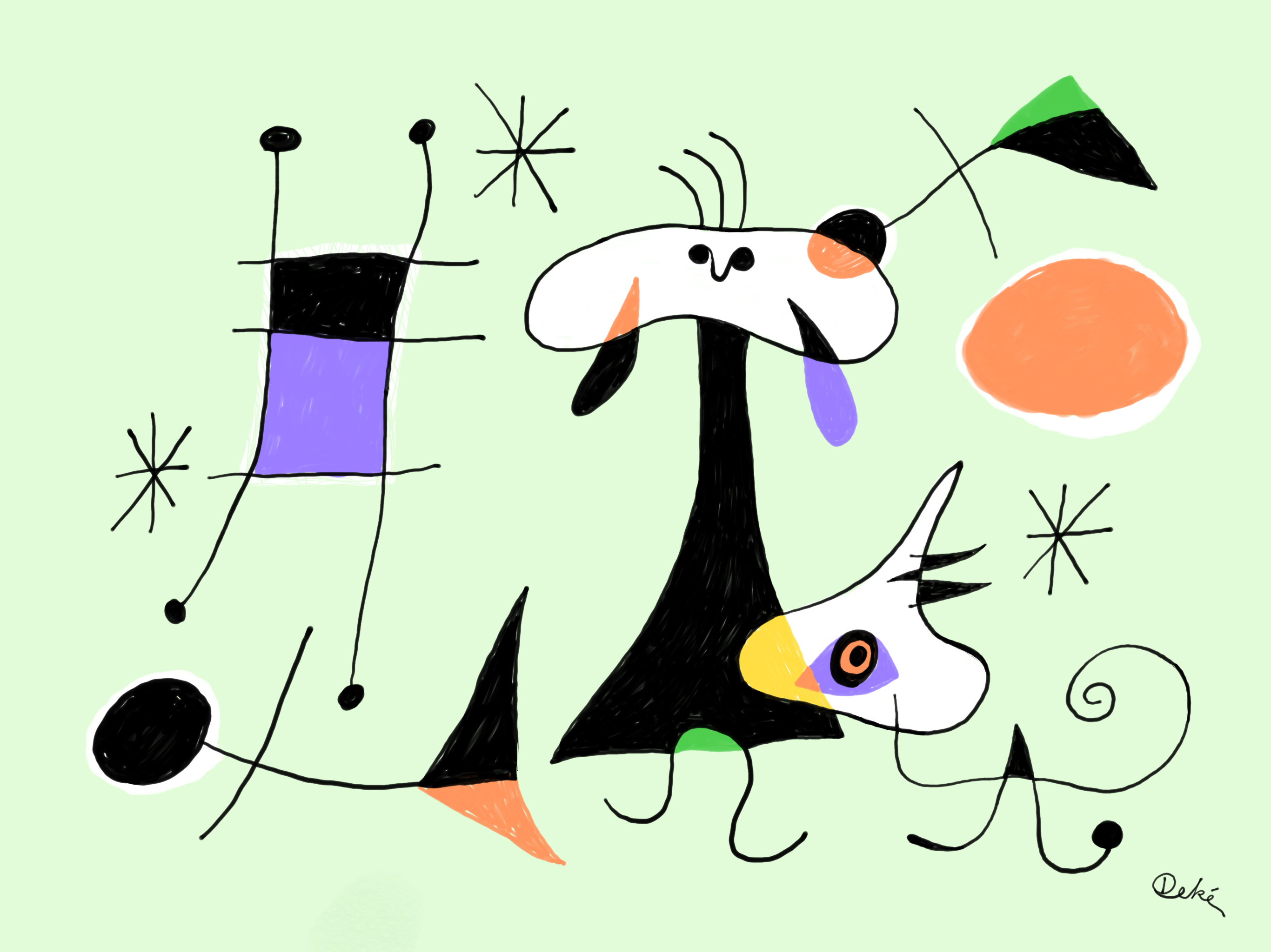 Deke's interpretation of Miro's