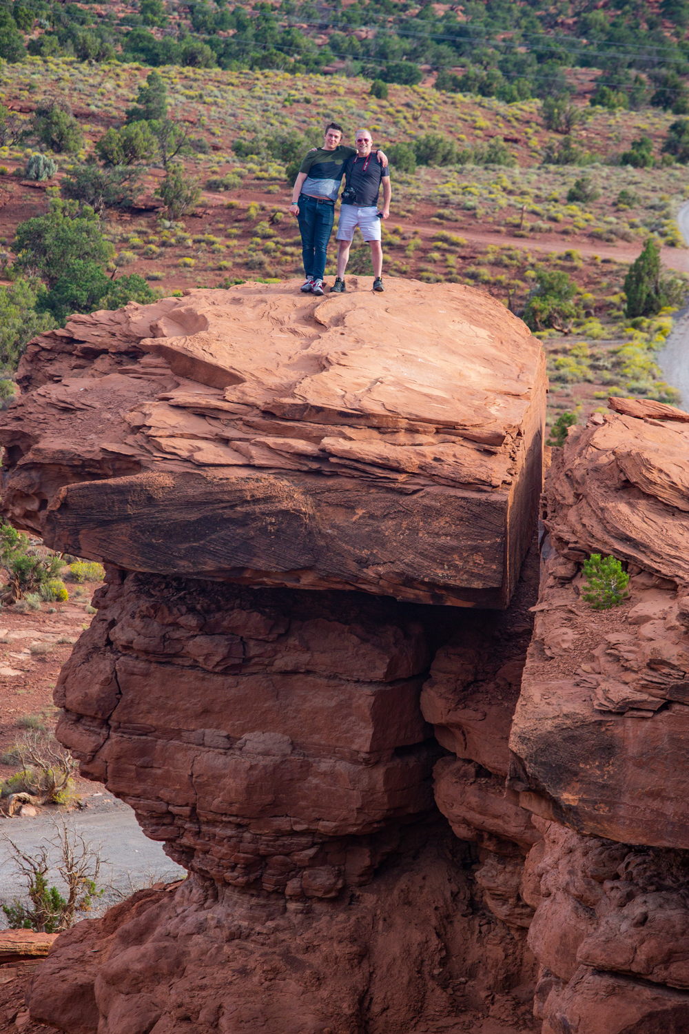 Deke and Max on Capitol Reef