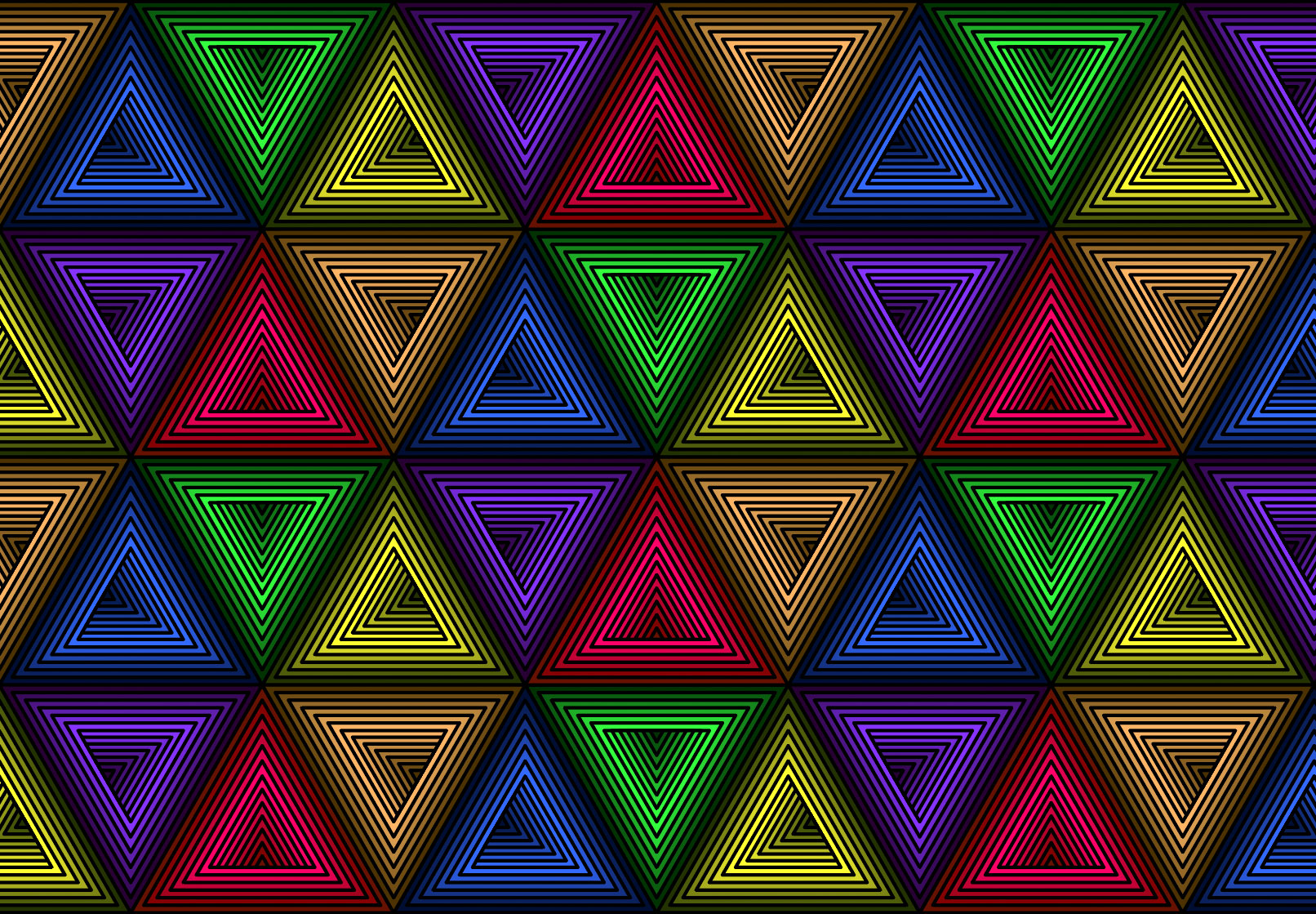 Colors in the triangluar pattern have changed