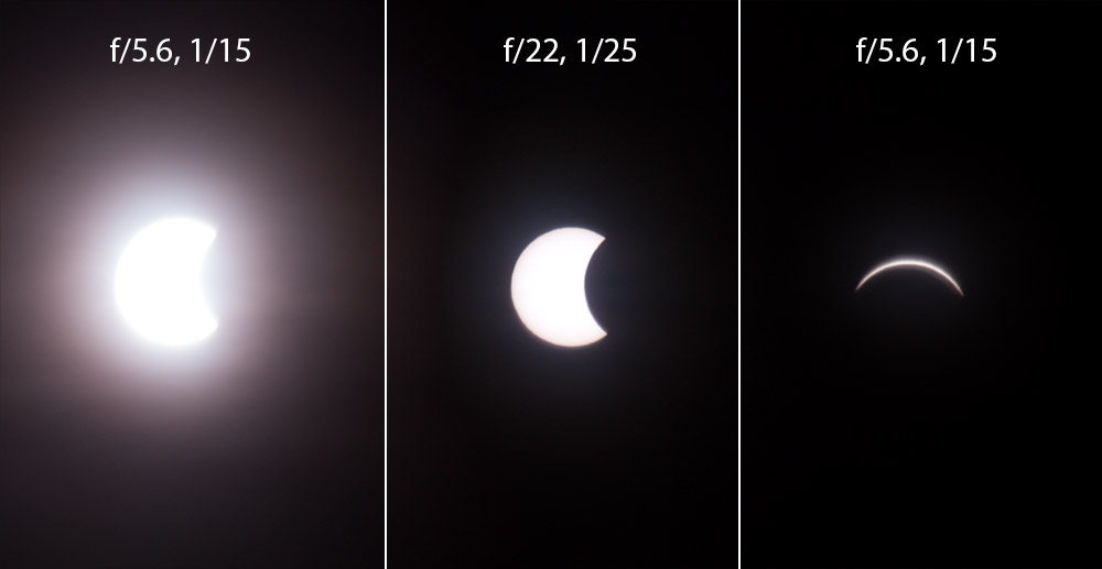 Different eclipse exposures