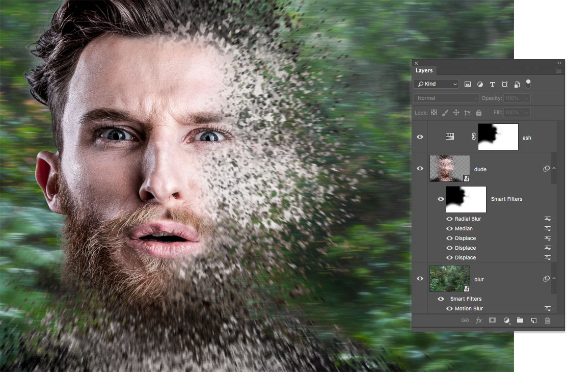 The Marvel Disintegration Effect in Photoshop, a deke com article