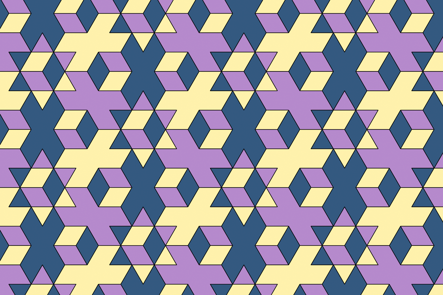 A pattern created from the gobstopper shape in Adobe Illustrator