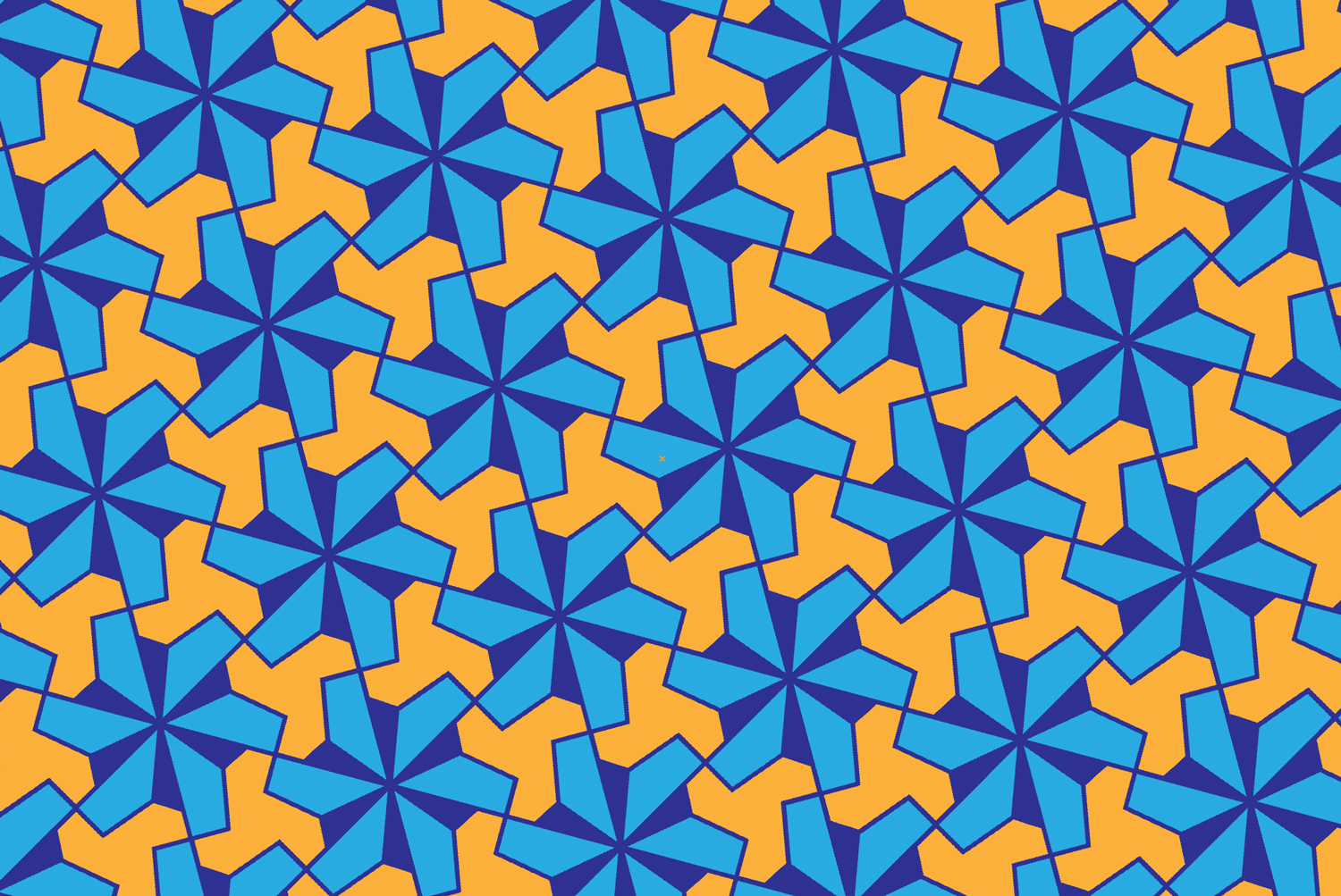 A repeating pattern based on a 24-sided star in Adobe Illustrator