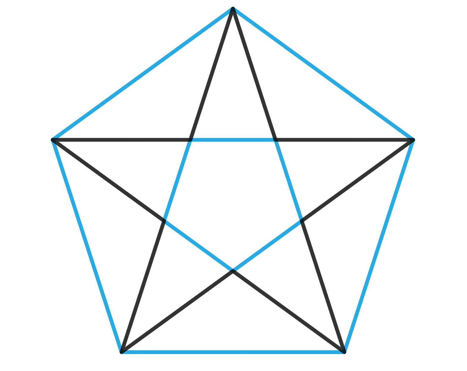 A star encased in the two hexagons that define it in Adobe Illustrator