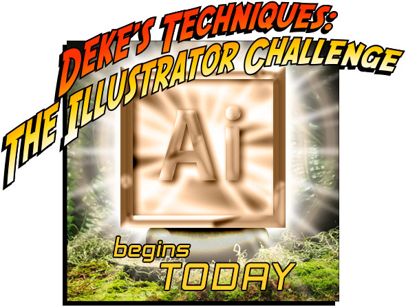 Deke's Techniques: The Illustrator Challenge begins today