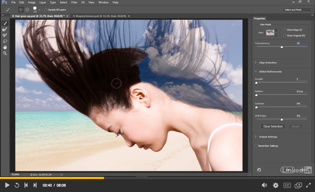 The new Select and Mask workspace in Photoshop CC 2015.5