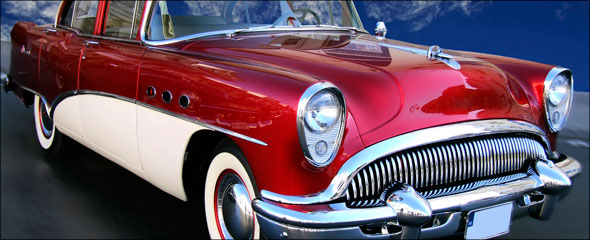 The original red car from the Fotolia image library