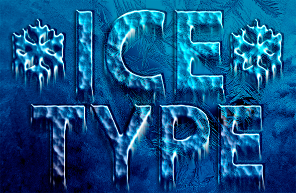 Chilly icy type treatment in Photoshop