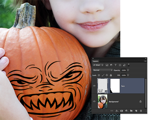 Masking the killer pumpkin