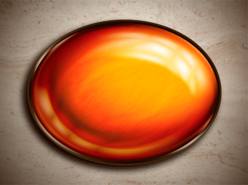amber cabochon Photoshop jewel