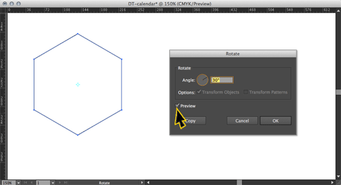 rotated hexagon in Illustrator
