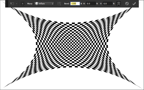 Checker pattern warped in Photoshop