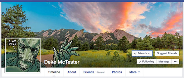 Integrate your Facebook profile and cover images seamlessly