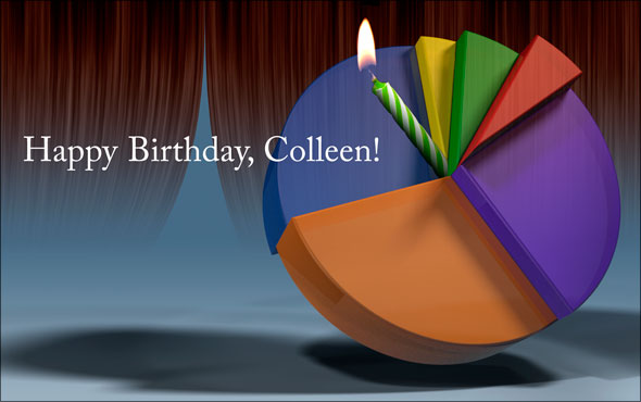 Birthday pie chart for Colleen Wheeler