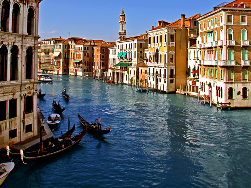 A photo of Venice, from the Fotolia image library