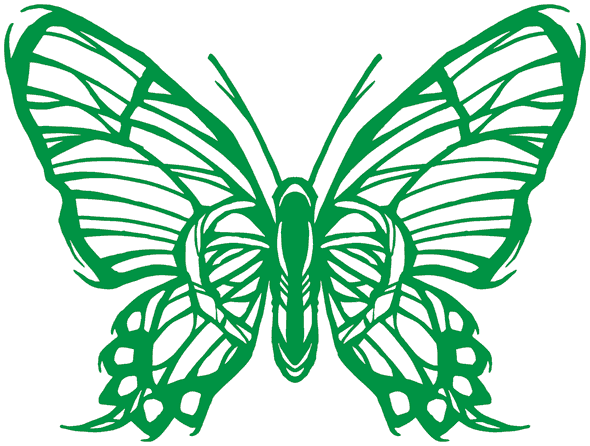 A butterfly drawn with a Sharpie, scanned, and traced in Adobe Illustrator