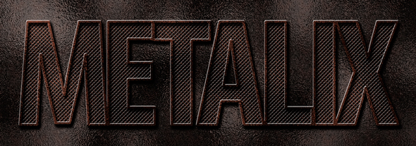 Heavy metal type created from scratch in Photoshop