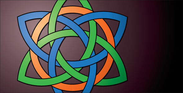 A Celtic knot pattern in Adobe Illustrator CS5