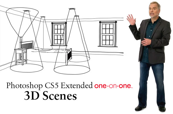 Photoshop CS5 Extended One-on-One: 3D Scenes intro