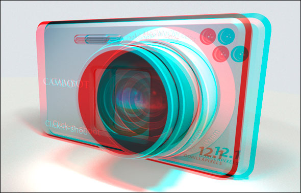 Photoshop CS5 Extended 3D stereoscopic camera