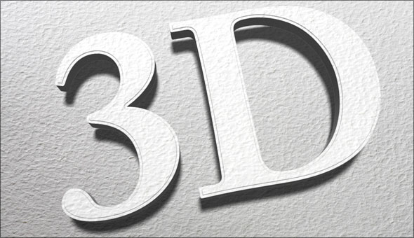 Photoshop Extended 3D type