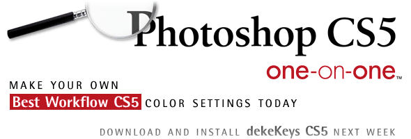 Photoshop CS5 recommended color settings